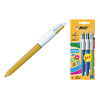 BIC 4 Colours Fashion Pen Assorted plus Pk3 Free of Charge