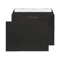 C5 Wallet Envelope Peel and Seal 120gsm Jet Black Black 93027 (Pack of 250)