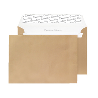 C5 Wallet Envelope Peel and Seal 130gsm Metallic Gold Black 93029 (Pack of 250)