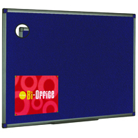 Bi-Office Aluminium Finish Felt Notice Board 600x450mm FB0443186