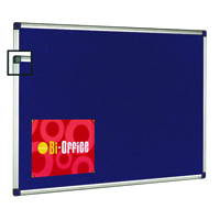 Bi-Office Aluminium Trim Felt Notice Board 1800x1200mm FA2743170