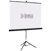 Bi-Office Black 1250mm Tripod Projection Screen 9D006028