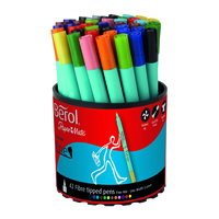 Berol Colourfine Pen Assorted Water Based Ink Tub of 42 CFT S0376490