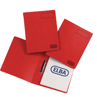 Elba Red Pressboard A4 Ring Binder (Pack of 10) 400001668
