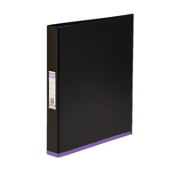 Elba Mycolour A4 Ring Binder Black and Purple 400019113