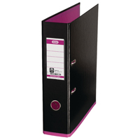 Elba MyColour A4 Black and Pink Lever Arch File 100081035