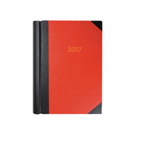 Collins Red A4 Desk Diary 2018 Luxury 2 Pages per Day 42