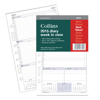 Collins Desk 2016 Diary Week to View Organiser Refill DK1700