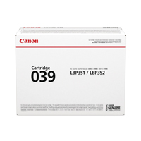 Canon 039 Black Standard Yield Toner Cartridge 0287C001