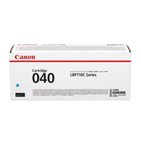 Canon 040 Cyan Standard Yield Toner Cartridge 0458C001