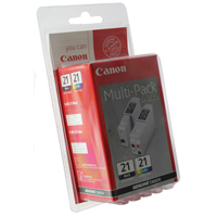 Canon BCI-21 Black/Colour Inkjet Cartridges Twin Pack 0954A379