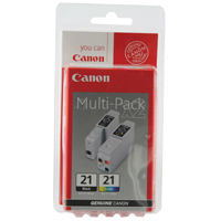 Canon BCI-21 Colour Inkjet Cartridges Twin Pack 0955A357