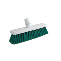 Bristle Broom Head 12 Inch White and Green P04053