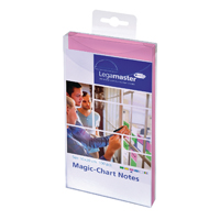 Legamaster Magic Chart Pink Notes 100x200mm With Board Marker 7-159409