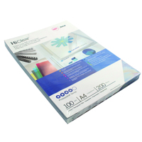 GBC HiClear Binding Covers PVC 200 Micron A4 Super Clear (Pack of 100) CE012080U