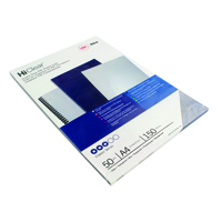 GBC HiClear Binding Covers A4 PVC 150 Micron (Pack of 50) 41600E
