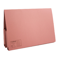 Guildhall Pink Double Pocket Legal Wallet Foolscap (Pack of 25) 214-PNK