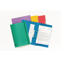 Europa Assorted Foolscap Pocket Spiral Files (Pack of 25) 3010Z
