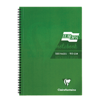 Europa A5 Notebook 180 Pages Green 5810Z