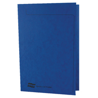 Europa Foolscap Blue Square Cut Folder Pack of 50 4825