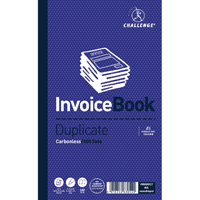 Challenge Duplicate Invoice Single VAT Column Book 100 Sets 210 x 130mm Pack of 5 100080412