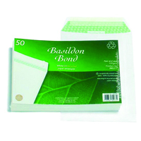 Basildon Bond C5 Envelopes 120gsm Peel and Seal White (Pack of 50) B80277