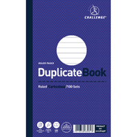 Challenge Duplicate Book Ruled Carbonless 100 Sets 210 x 130mm Pack of 5 100080458