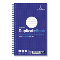 Challenge Wirebound Duplicate Book Ruled Carbonless 50 Sets 210 x 130mm Pack of 5 100080469