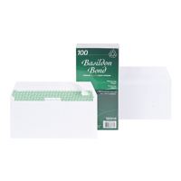 Basildon Bond DL Envelopes Peel and Seal 100gsm White (Pack of 100) F80275