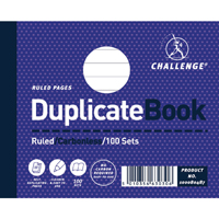 Challenge Duplicate Book Ruled Carbonless 100 Sets 105 x 130mm Pack of 5 100080487