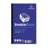 Challenge Duplicate Invoice without VAT Book Carbonless 100 Sets 210 x 130mm Pack of 5 100080526