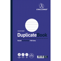 Challenge Duplicate Book Ruled Carbonless 100 Sets 297 x 195mm Pack of 3 100080527