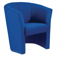 Arista Blue Tub Fabric Chair