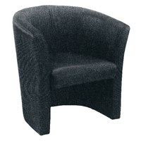 Arista Tub Charcoal Fabric Chair