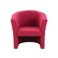 Arista Tub Claret Fabric Chair