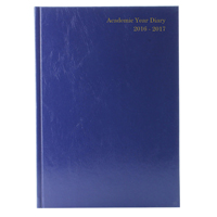 Academic Diary Day Per Page A5 Blue 2016-17 KF1A5ABU16