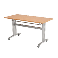 Arista Beech Fliptop Style Table Rectangular 1350x675mm KF71414