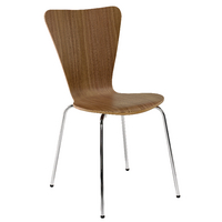 Arista Wooden Bistro Chair Walnut and Chrome (Pack of 4) KF72578