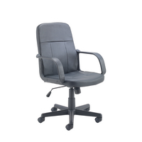 Jemini Trent Leather Look Black Chair KF73635