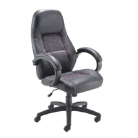 Arista Swift Black Leather And Mesh Executive Chair KF73637