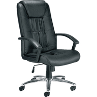 Jemini Tiber Leather Faced Executive Black Chair KF74003
