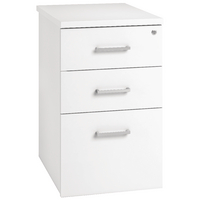 Arista Desk High Pedestal Three Drawer 600mm White KF74298