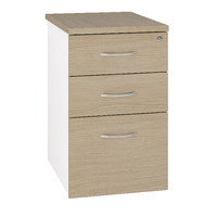 Arista Desk High Pedestal Three Drawer 600mm Oak KF74299