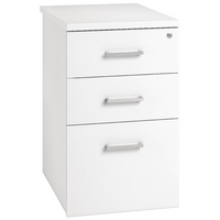Arista Desk High Pedestal Three Drawer 800mm White KF74300