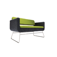 Avior 2 Seater Sofa Grey and Green KF74639