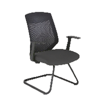 Arista Mesh Visitor Black Chair KF74648