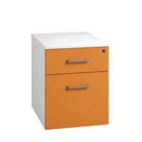 Arista Mobile Under Desk Pedestal White/Orange