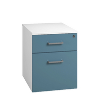 Arista Mobile Under Desk Pedestal White/Blue