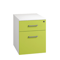 Arista Mobile Under Desk Pedestal White/Green