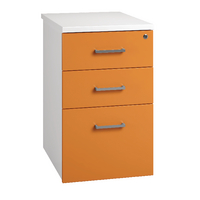 Arista Mobile 800mm Desk High Pedestal White/Orange